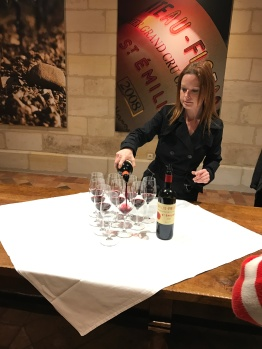 Tasting the Figeac wines